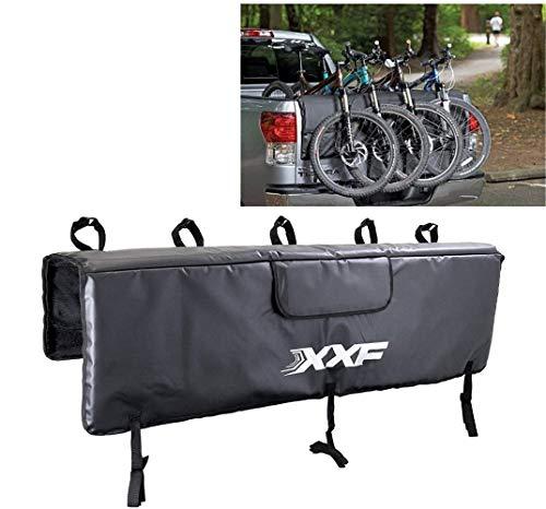 HJJGRASS Heckklappenschutz Pad Für MTB-Rennräder Gepäckträger Pad mit Gurten Pick-up Pad für Fahrräder Fahrradzubehör