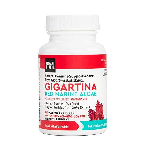 Vibrant Health, Gigartina Red Marine Algae, Plant-Based Immune Support, 60 Capsules (FFP)