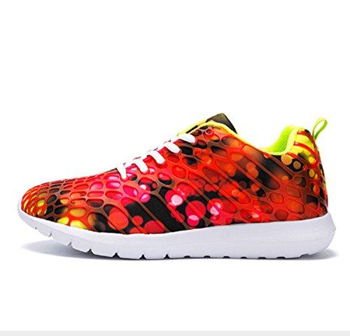 Hommes Anti-Slip Wearable Garçons Chaussures New Age Saison Glissant Chaussures résistant à l'usure Léger Mode Chaussures de Sport (Couleur : Rouge, Taille : US10/EU42/UK8.5/CN42)