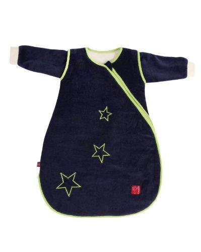 Kaiser 65070022 Schlafsack STAR sidezip, Ganzjahresschlafsack, Arme abtrennbar, 60 cm, dunkelblau