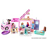 ?Barbie 3-in-1 DreamCamper Vehicle, approx. 3-ft, Transforming Camper with Pool, Truck, Boat and 50 Accessories, Makes a Great Gift for 3 to 7 Year Olds from Mattel