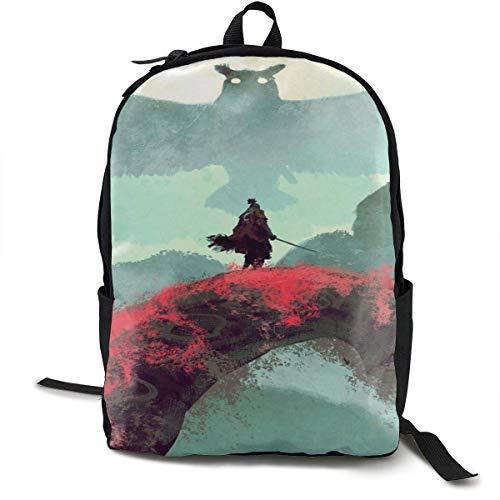 AOOEDM Sekiro Modische Multifunktions-Lässige Unisex-Schultaschen Laptop-Rucksack Reise-Büchertasche College-Schulter-Rucksack