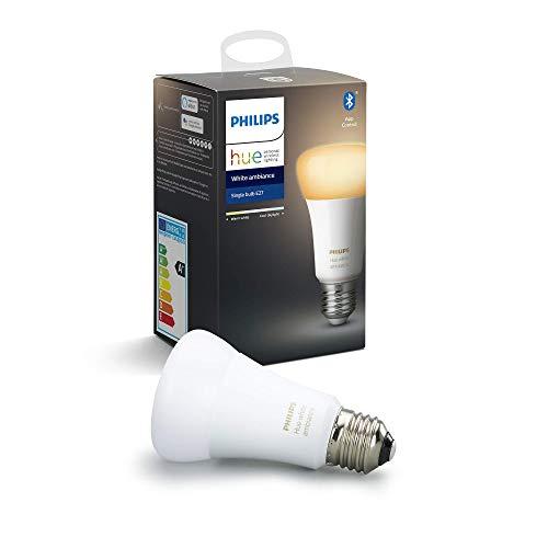 Preisvergleich Produktbild Philips Hue White Ambiance E27 LED Lampe Einzelpack,  dimmbar,  alle Weißschattierungen,  steuerbar via App,  kompatibel mit Amazon Alexa (Echo,  Echo Dot)