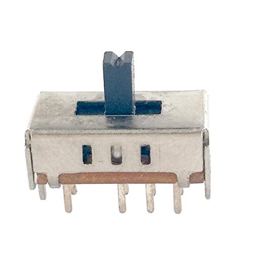 20pcs SS23E04 Double Toggle Switch 8 Pins DP3T Handle Length 5mm Slide Switc H$
