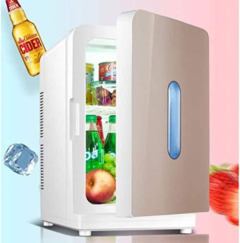 Refrigerador Mini refrigerador portátil Refrigerador eléctrico Enfriamiento y calefacción de bajo Ruido 2 en 1 Ahorro de energía para Medicina Cosméticos Alimentos 20L Plata ámbar-Tyrant Gold