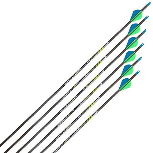 Razor ZX600 Archery Carbon Arrows, 31-Inch by Allen, 6 Pack, Gray