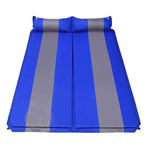 AJZXHE Luftmatratze Outdoor Luftmatratze aufblasbare Isomatte Autokissen schlafen doppelt Faltbare Picknickmatte Luftmatratze für Camping (Color : A)