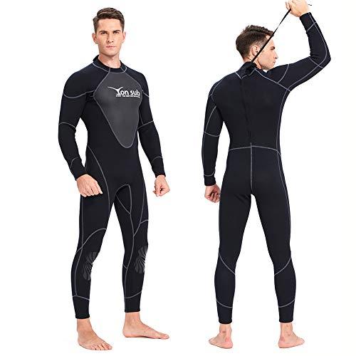 YRX Traje de neopreno de 1,5 mm, para buceo, surf, pesca submarina y cuerpo cercano, para evitar medusas, color negro, XXL