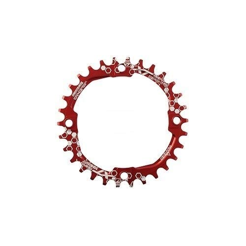 Hojuan Forma 104BCD XT Ronda 30T 32T 34T 36T 38T 40T 42T 44T 46T 48T 50T 52T Ciclismo MTB Plato Chainwheel (Color : XT 32T Round Red)