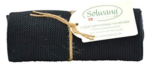 Solwang dänische Baumwolle in 100% Öko-Tex Zertifiziert oder GOTS Zertifiziert Küchen-Handtücher Made in India schwarz
