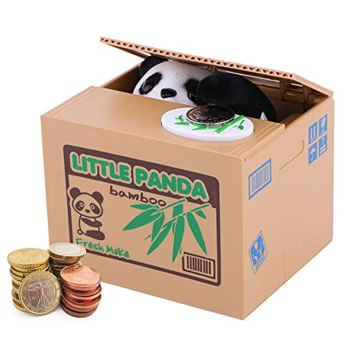 Auped Money Box Moneda Hucha Electrónica Automática Gato Blanco Savings Bank Regalo significativo para niños. (Panda)