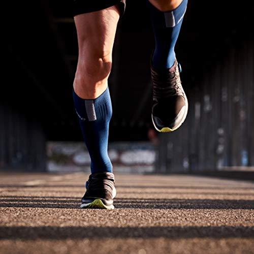 CEP – Run Socks 3.0 für Damen | Kompressionsstrumpf mit präzisem Druckverlauf in blau/grau | Größe II - 5