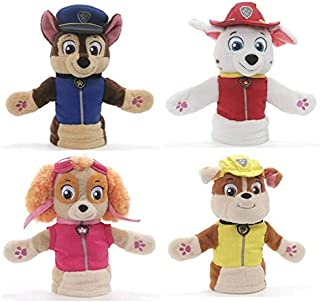 "GUND Paw Patrol Puppet Plush Bundle of 4, 11"" Chase, Marshall, Skye and Rubble"