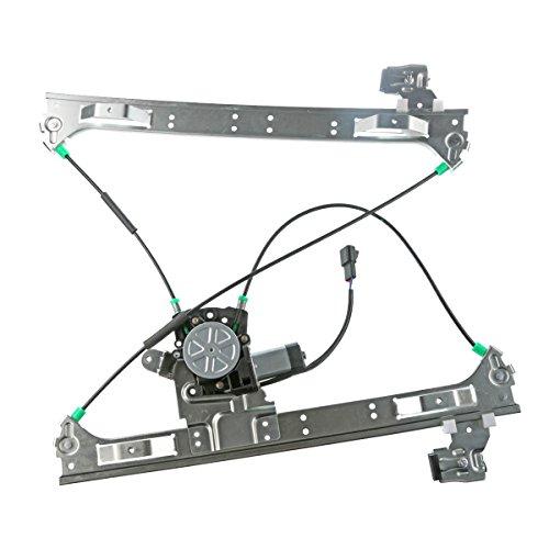 A-Premium Power Window Regulator with Motor Replacement for Buick Rainier Chevrolet Trailblazer EXT GMC Envoy Isuzu Ascender Bravada 9-7x Front Right