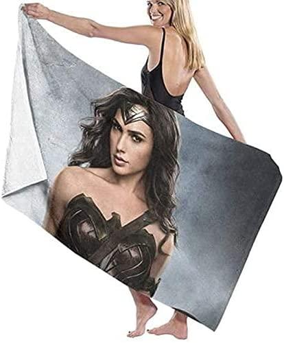 QWAS Wonder Woman Toalla de playa Wonder Woman, suave, absorbente y de secado rápido, versátil, compacta y ligera (A03,90 cm x 180 cm)
