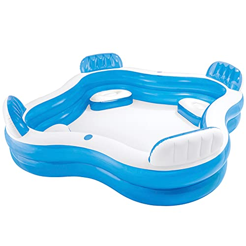 "Intex 12-56475NP Swim Center Family Lounge Inflatable Pool, 90"" X 90"" X 26"", for Ages 3+"