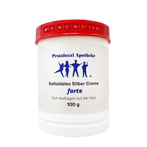 Kolloidales Silber Creme forte (100 g) aus Apotheken-Herstellung - doppelte Konzentration - hochwertige Qualität - bewährte Rezeptur Silbercreme Pestalozzi-Apotheke