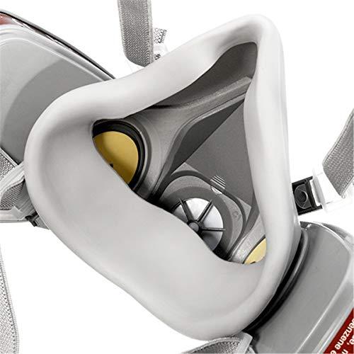 NASUM Halb Gesicht Abdeckung Wiederverwendbare, Serie Grau M101, mit Filter*2, Baumwolle*4(Mitte) - 5
