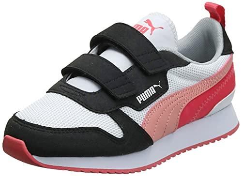 PUMA R78 JR Sneaker, Weiß Grau Violett Elektro Blau, 36 EU
