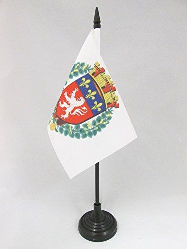 AZ FLAG Bandera de Mesa de la Ciudad DE Lyon 15x10cm - BANDERINA de DESPACHO LIONESA - RODANO 10 x 15 cm