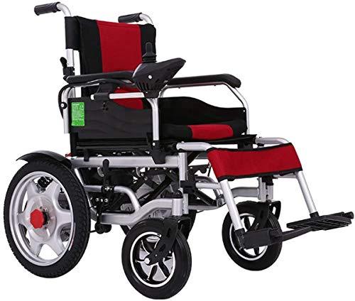 WYRRJ Elektro-Rollstuhl Elektro-Rad-Stuhl Faltbare Leichte Carry, Durable Rollstuhl, sicher und einfach zu Antrieb...