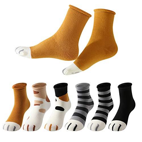 MOCOCITO Calcetines de Mujer, 6 Pares Calcetines Algodón