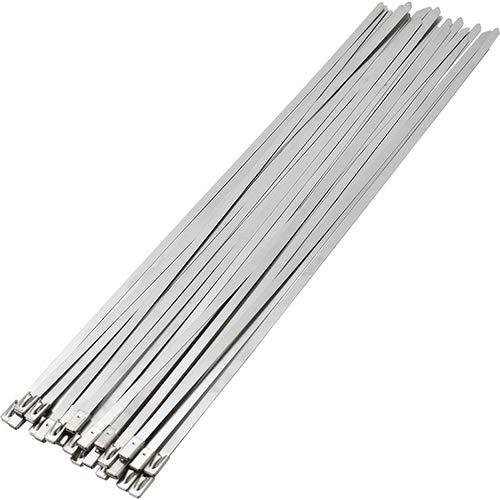 100 Stks RVS Metalen Kabelbinder Rits Voorhuid Uitlaat Buis Inductie Buis 4.6 * 200