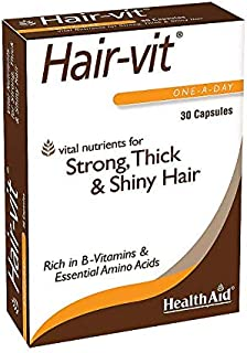 HealthAid Hair-VIT, 30 Capsules, Once Daily, Vital Nutrients for Strong, Thick, Shiny Hair, Rich in B- Vitamins & Essentia...