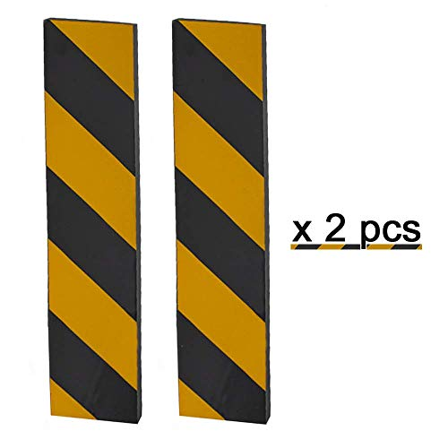 Protector de Esquina Adhesivo, Espuma para Golpes, Las Franjas Amarillas y Negras, para la Protección de las Columnas de Garaje y Aparcamientos, 39 * 7.5 * 1.5 cm (2piezas)