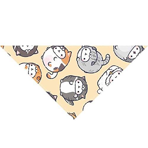 Gouen Pet Dog Bandana Collar Neckerchief Triangle Neck Scarf Saliva Towel Cute Cartoon Animal Pattern Pet Accessories Supplies, Style 5, M
