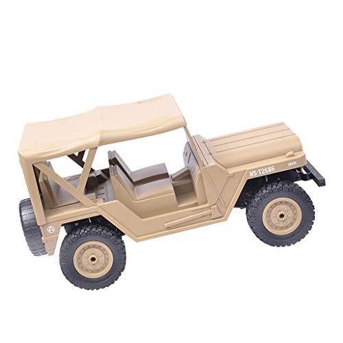 perfeclan 1:14 Escala Completa Control Remoto Coche Rock Crawler Buggy Modelo de Vehículo de Juguete - Bronceado