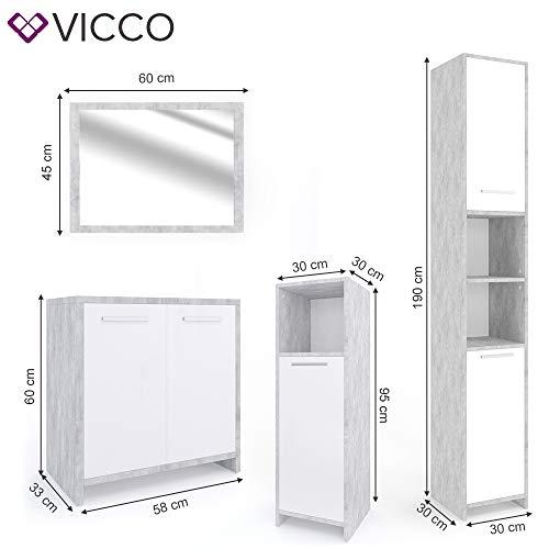 VICCO Badmöbel Set KIKO Weiß Hochglanz kaufen  Bild 1*