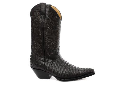 Grinders Carolina Herren Western Cowboy Stiefel, Schwarz, Größe 45