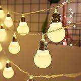 YH Led-Leuchten Led-Lichterkette, Led-Lampen Big Ball-Modelle Batterie-Lichterketten, Kleine Lichter...
