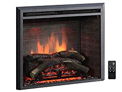 PuraFlame Western Electric Fireplace Insert with Fire Crackling Sound