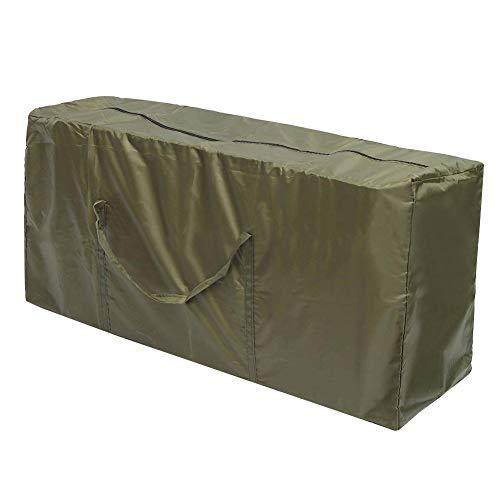 WEIQUN Bolsa de almacenamiento para cojines de muebles, tela Oxford 210D, bolsa de almacenamiento para muebles, impermeable, funda protectora para asientos al aire libre, con cremallera