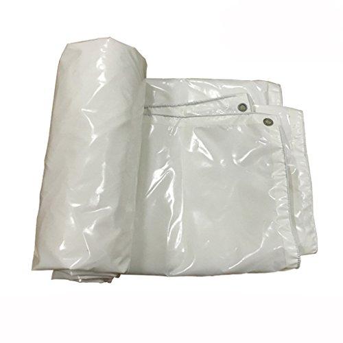 SXZHSM dekzeil waterdicht zonnescherm regendichte doek luifel doek auto canvas vrachtwagen dekzeil op maat waterdicht dekzeil 4*6m Kleur: wit
