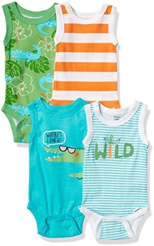 Gerber Baby Boys 3 Piece Onesies Bodysuit Pant and Cap Set Blue Shark 3 6M product image