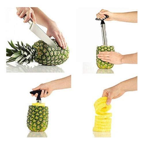 A-Plus Shopping Stainless Steel Pineapple Handheld Fruit Corer Slicer Cutter Peeler Kitchen Tool