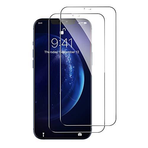 yotame 2 Piezas Cristal Templado Privacidad 3D Completa de Cobertura Total Pantalla Protectora para iPhone 12 Pro MAX