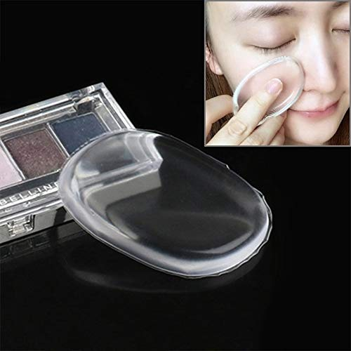 Clothing & Beauty - Maquillage du visage en forme de quadranple - En silicone transparent - Poudre lisse - Bleu - Vêtements et beauté - Couleur : transparent
