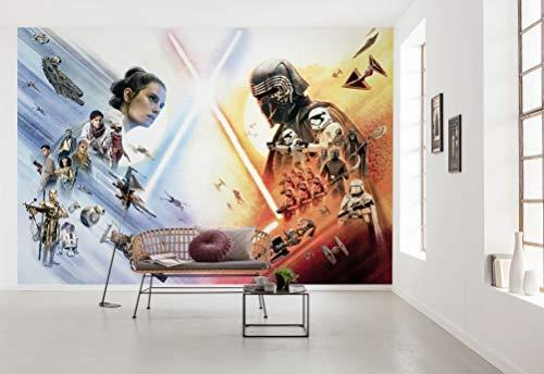 Star Wars Fototapete von Komar STAR WARS EP9 MOVIE POSTER WIDE - Größe 368 x 254 cm (Breite x Höhe), Kylo Ren, Star Wars 9, Skywalker, Tapete, Wandgestaltung, Dekoration - 8-4114