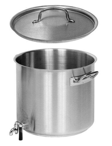 Kartoffelkocher Riesenkocher Kochtopf MIT DECKEL und AUSLAUFHAHN CNS 28 cm Ø / 17,0 Liter Inhalt
