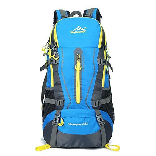 Zaino ultra leggero 45L Mens Zaino Trekking Leggero Water Resistant Casual zaini da trekking grandi for i viaggi di campeggio rampicante Alpinista Outdoor Sport Trekking zaino fuori per esterno campeg