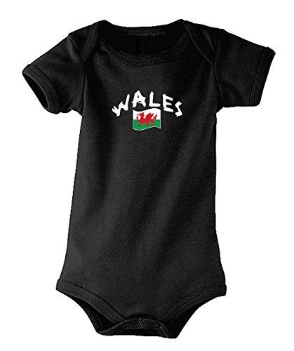 Supportershop von Wales Trikot Kinder XL Schwarz