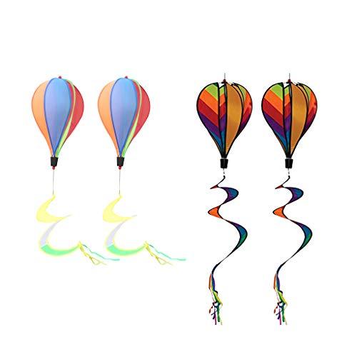 Générique Lot de 4 montgolfières colorées pour la Maison, Le Jardin, la pelouse, Le Camping, la publicité en Plein air, Les Festivals