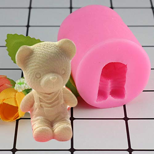 HONGYAN Silicone mould Cake mould 3D Bear Boy Silicone Mold Candle Resin Clay Molds Fondant Cake Decorating Tools Candy Chocolate Gumpaste Moulds