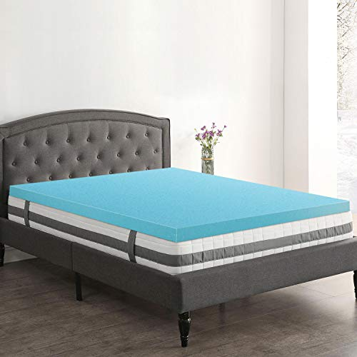 Genniyz 4 Inch Mattress Topper Gel Memory Foam Mattress Pad...