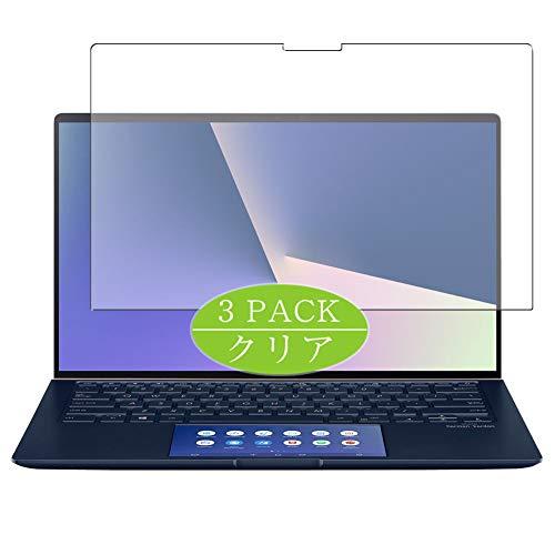 """VacFun Lot de 3 Clair Film de Protection d'écran, Compatible avec ASUS ZenBook 14 UX434 Series / UX434FL 14"""", Film Protecteur sans Bulles(Non vitre Verre trempé)"""