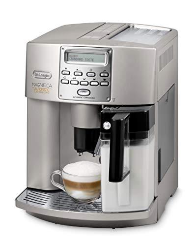 De\'Longhi Magnificia ESAM 3500 S Kaffeevollautomat | Cappuccino auf Knopfdruck | Großer 1,8 L Wassertank | 16 bar Pumpendruck | Integriertes Milchsystem | Herausnehmbare Brühgruppe | Champagner-Silber